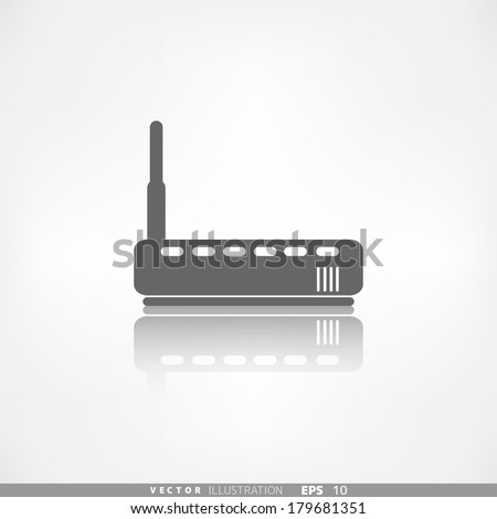 Wi fi router web icon - stock vector