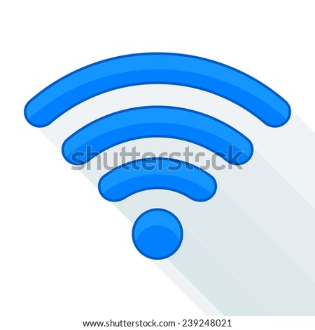 Wi-fi signal isolated, abstract - stock vector
