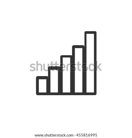 Wi-Fi signal level icon. Simple flat logo of wi-fi signal level on white background. Vector illustration. - stock vector
