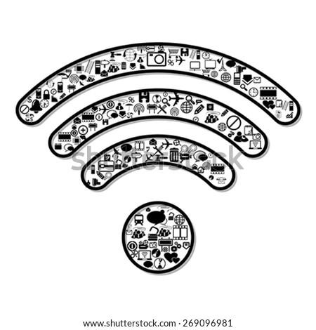 Wi Fi symbol, vector - stock vector