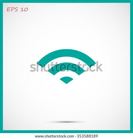 Wi-Fi vector icon - stock vector