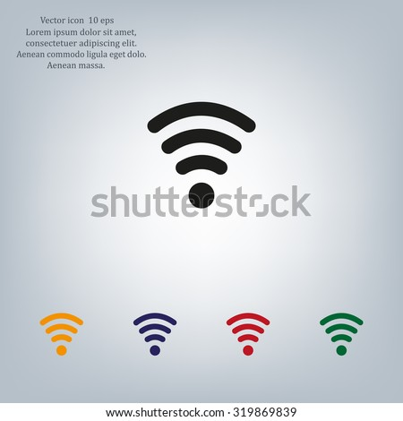 Wi-fi, web icon. vector design - stock vector