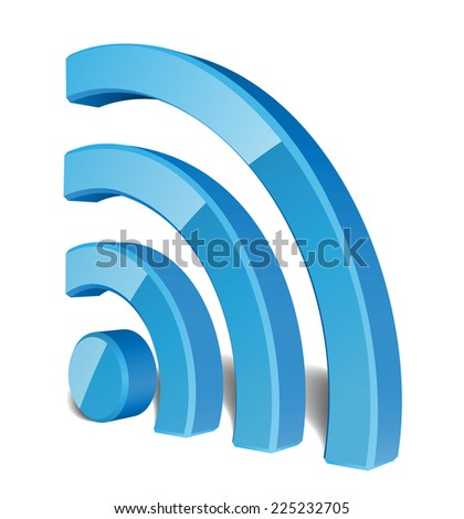 Wi Fi Wireless Network Symbol, Vector Illustration - stock vector