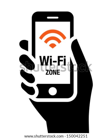 Wi-Fi zone icon - stock vector