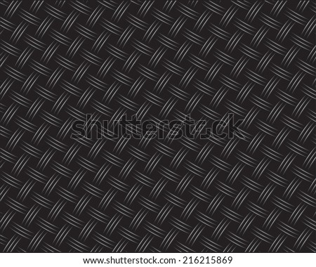 Wicker Black Carbon Background (seamless pattern) - stock vector
