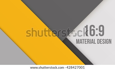 Wide Background Unusual modern material design. Retro style. Format 16:9. Abstract Vector Illustration.  - stock vector