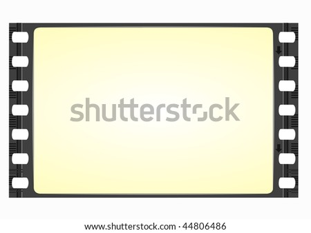 wide screen film frame - vector