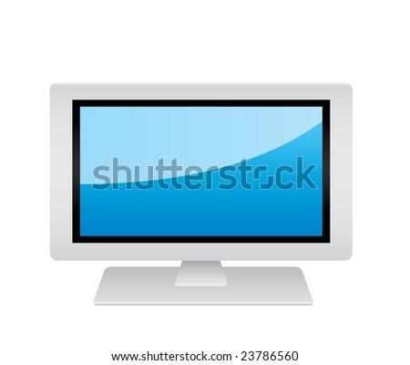 wide screen tV - stock vector