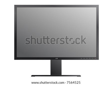 widescreen display  illustration fully editable and isolated on white background - stock vector