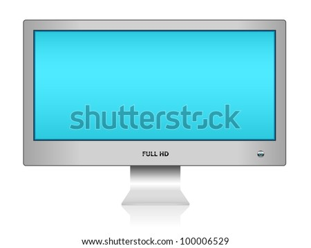 Widescreen TFT display, eps10 - stock vector