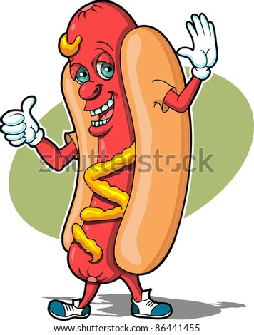 Wiener Guy - stock vector