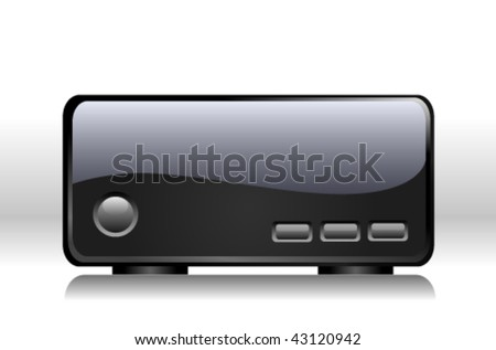 WiFi access point isolated over white background - stock vector