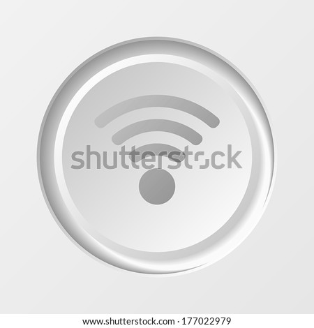 WiFi Button wireless icon. EPS10 vector illustration. - stock vector