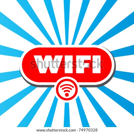 WiFi glossy vector icon - stock vector
