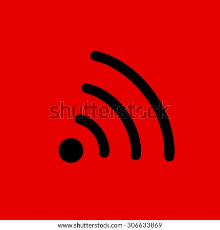 Wifi icon vector - stock vector