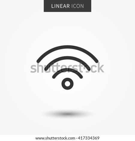 Wifi icon vector illustration. Isolated wifi hotspot symbol. Internet signal graphic design. Wireless connection concept pictogram. Wifi network line symbol. Wireless network outluine element. - stock vector