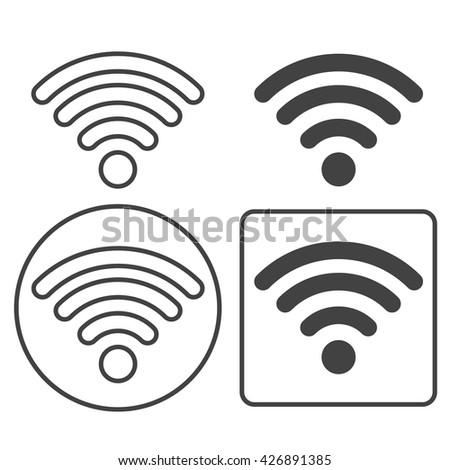 WIFI Icon. WIFI Icon Vector. WIFI Icon JPEG. WIFI Icon Object. WIFI Icon Picture. WIFI Icon Image. WIFI Icon Graphic. WIFI Icon Art. WIFI Icon JPG. WIFI Icon EPS. WIFI Icon AI. WIFI Icon Drawing - stock vector