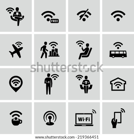Wifi icons - stock vector