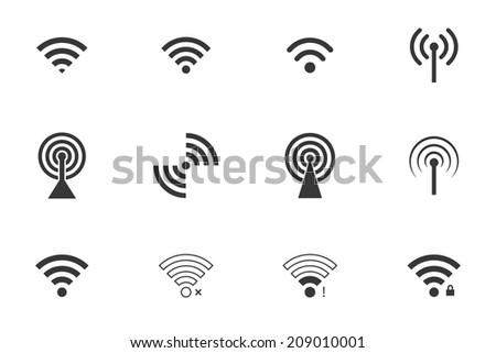 wifi icons. vector set. eps8 - stock vector