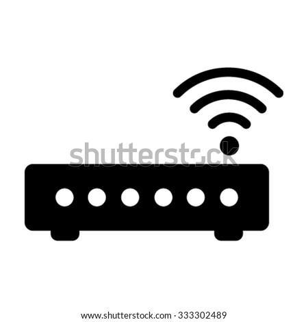 Wifi Modem / Router Icon - Vector - stock vector