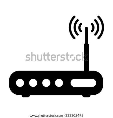 Wifi Modem / Router Icons - stock vector
