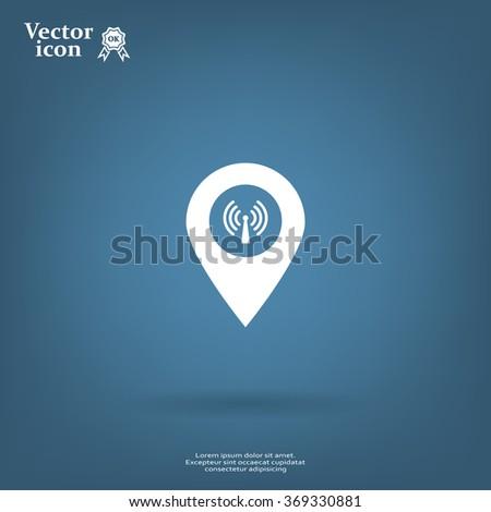 wifi pointer icon - stock vector