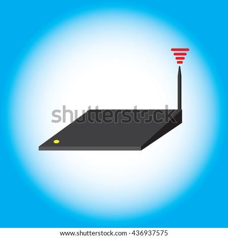 Wifi,router icon - stock vector