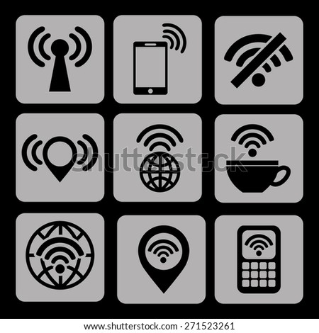 wifi service design, vector illustration eps10 graphic