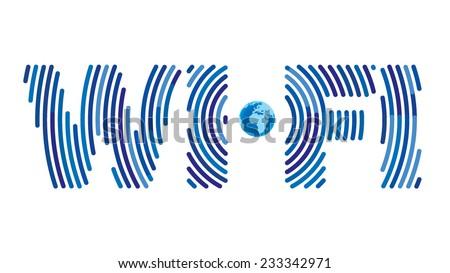 Wifi sign concept - stock vector