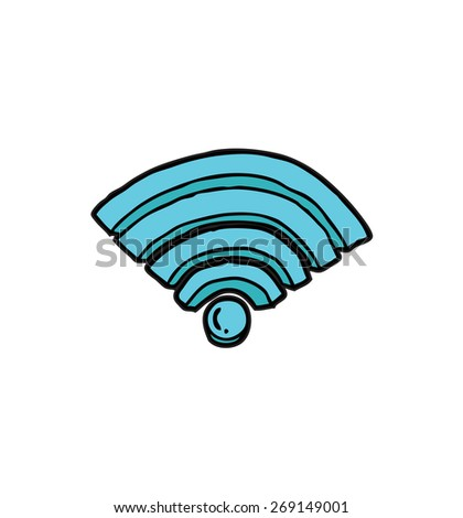 wifi signal icon - stock vector