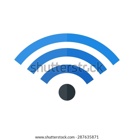 Wifi, signal, wireless icon vector image. Can also be used for mobile apps, phone tab bar and settings. Suitable for use on web apps, mobile apps and print media - stock vector