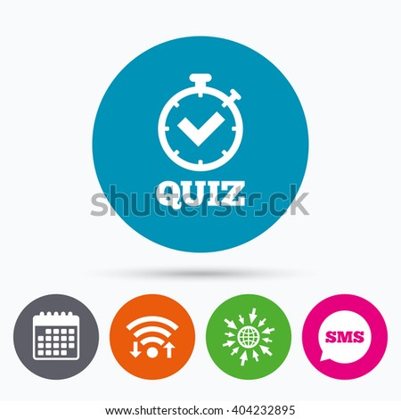 Quiz Timer Sign Icon Questions Answers Stock Vector 339027194