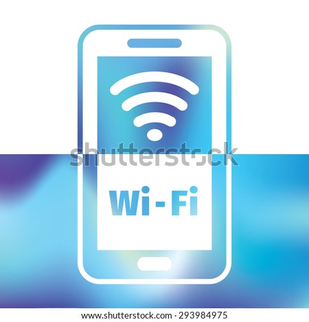 wifi symbol - connection for smartphone or tablet pc - stock vector