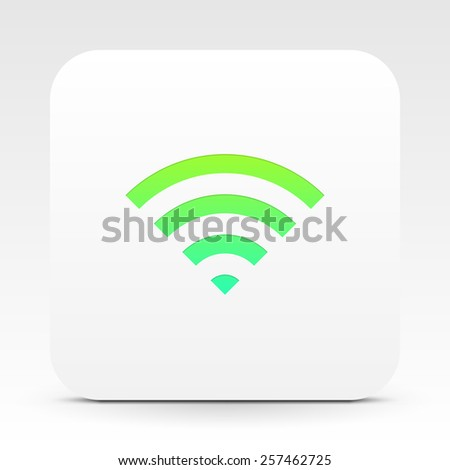 Wifi symbol on white text box, eps 10 stock vector illustration - stock vector