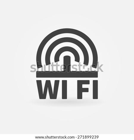 WiFi vector icon - wi-fi logo or symbol - stock vector