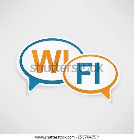 WiFi Zone speech bubbles - stock vector