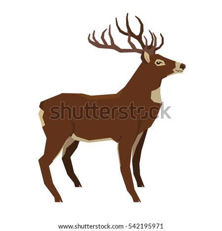 Wild animals collection Deer Geometric style