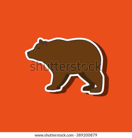 wild bear design  - stock vector