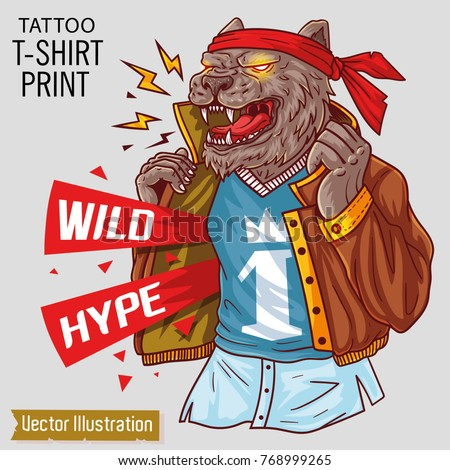 Gangster stock images royalty free images vectors for T shirt printing exhibition