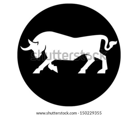 Wild Bull - stock vector