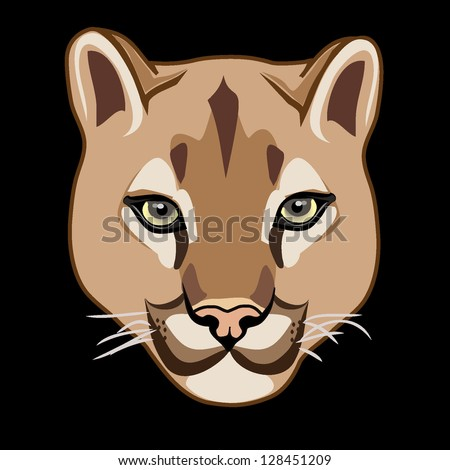 wild cat  cougar vector - stock vector