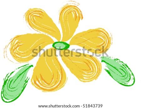wild daisy drawing - stock vector