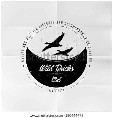Wild Ducks Club Badge - stock vector
