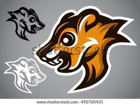 Wild Squirrel head gray logo
