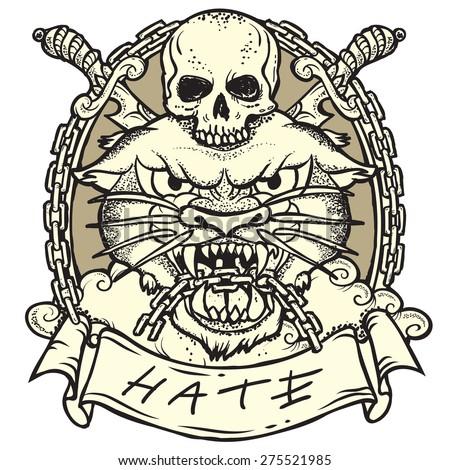Wild tattoo - stock vector