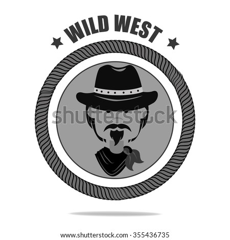 Wild west culture graphic design, vector illustration eps10
