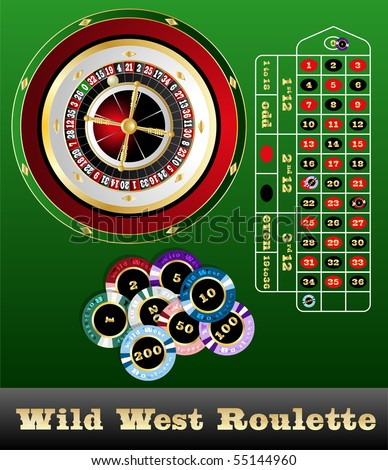 Wild west roulette - stock vector