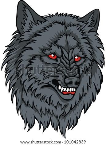 Wild wolf vector - stock vector
