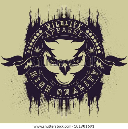 Wildlife apparel - stock vector