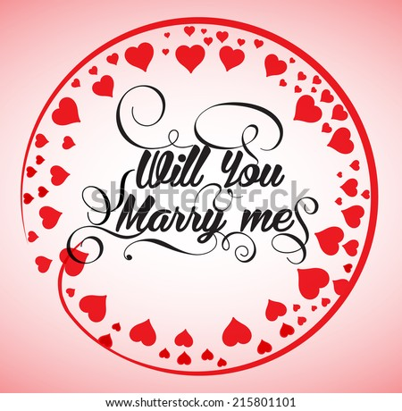 Will you marry me - stock vector